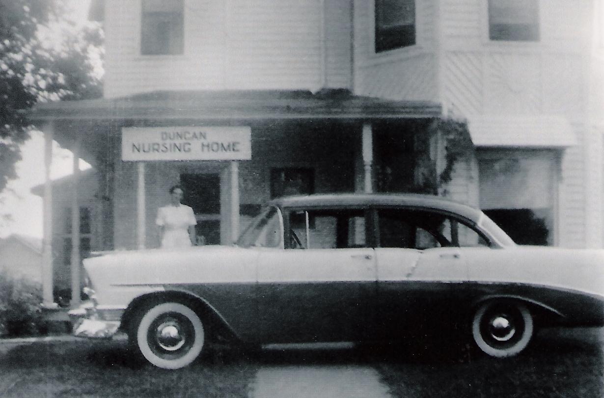 Grandma infront of Duncan Nursing Home